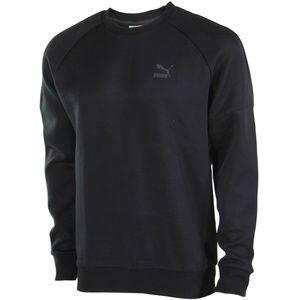 PUMA Evo Bold Logo Crew Sweatshirt Black XL Fleece